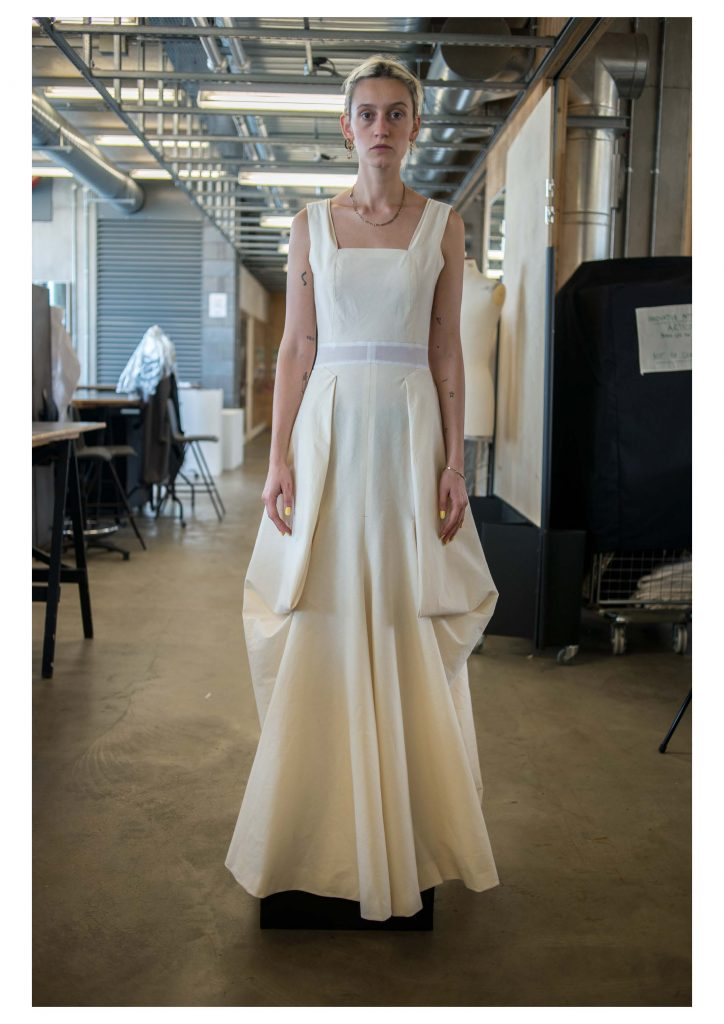 Charles James fitting. Image by Liam Leslie for Exploding Fashion.