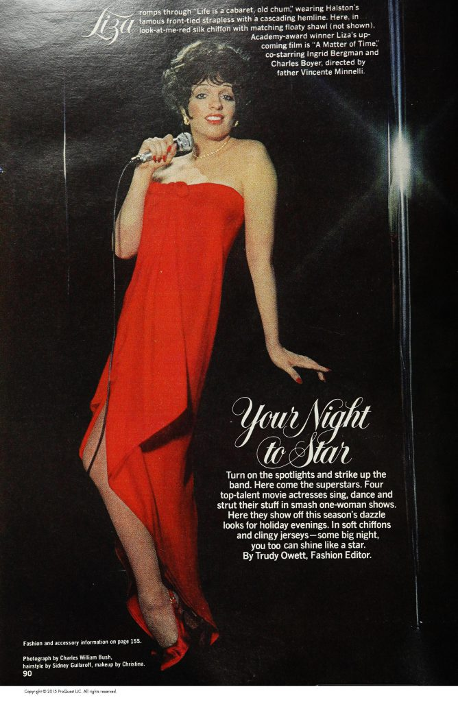 'Your Night to Star', Ladies Home Journal, December 1976. © 2015 ProQuest LLC.
