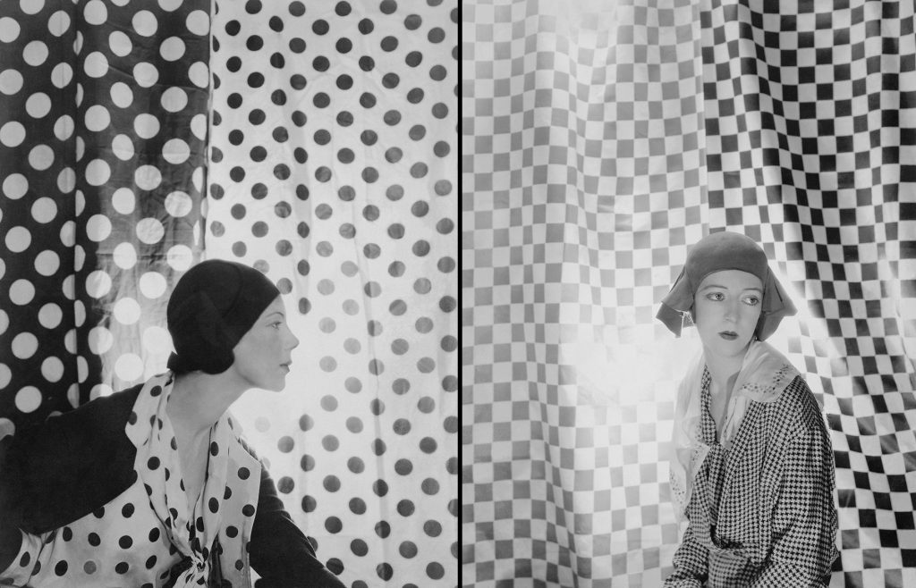 Tilly Losch and Marianne van Rensselaer in Boucheron [Charles James] hats, by Cecil Beaton for Vogue, May 1930.