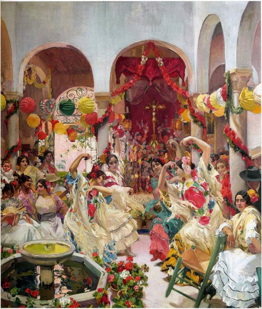 'Vision of Spain, Sevilla, the Dance', by Joaquín Sorolla y Bastida, 1914. The Hispanic Society of America, New York.